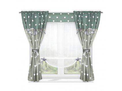 202 Luxusní hotová záclona s panelem Josefína šedá 420 x 160 cm