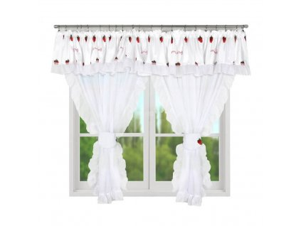 215 Hotová kusová záclona Eleonora bílá 400x160 cm