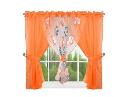 95 Hotová kusová záclona L 95 4 oranžová 400x150 cm