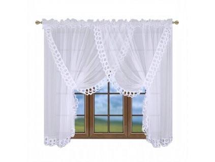 Luxusní hotová kusová záclona Monika 400x250 cm