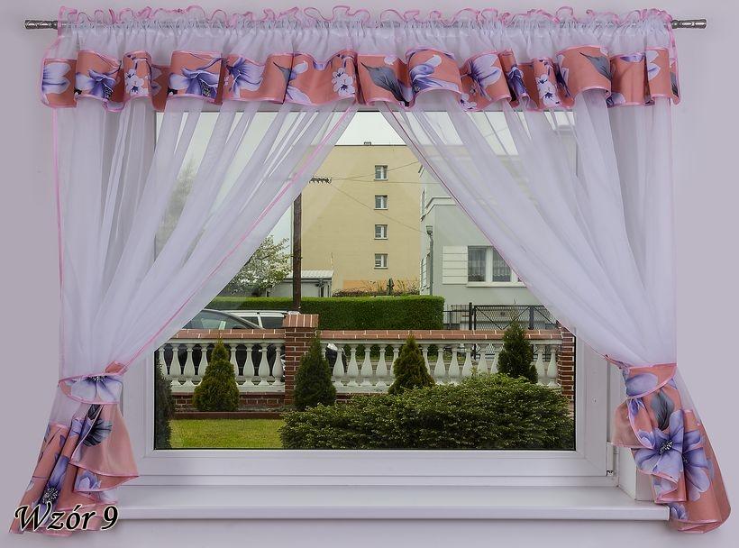 LiSin Hotová kusová záclona Milena s květinami(9) 400x150 cm