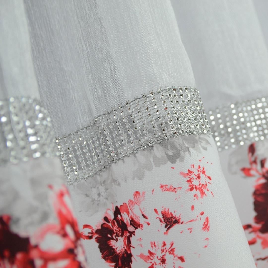 FLYING Luxusní hotová kusová záclona Jarmila červená 400 cm x 160 cm