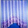 Hotová oblouková záclona - Sklo fialová, 300x160 cm