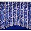 Hotová oblouková záclona Motýli modrý 320 x 180 cm