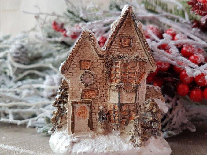 Vánoční domeček keramický