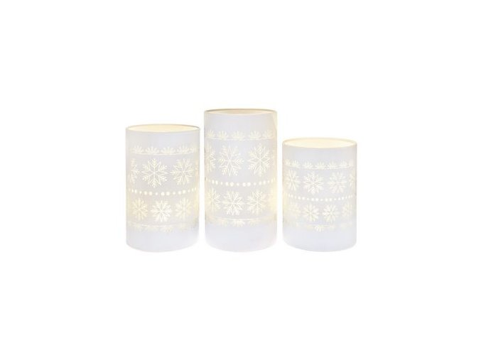 Svítící lampa, bílé vločky - M