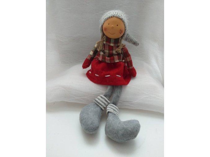 Vánoční panenka-nohatá holka 58cm