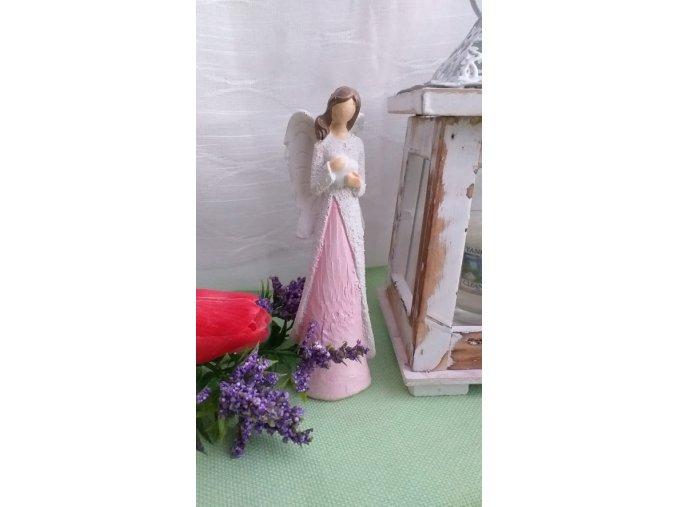 Andělka bílo-růžová 2