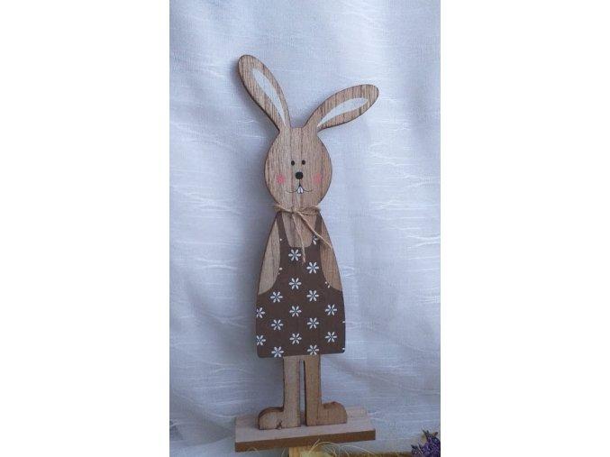 Zajíc dřevěný - holčička
