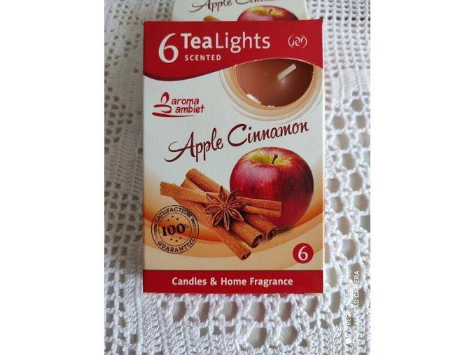 Čajová svíčka jablko a skořice