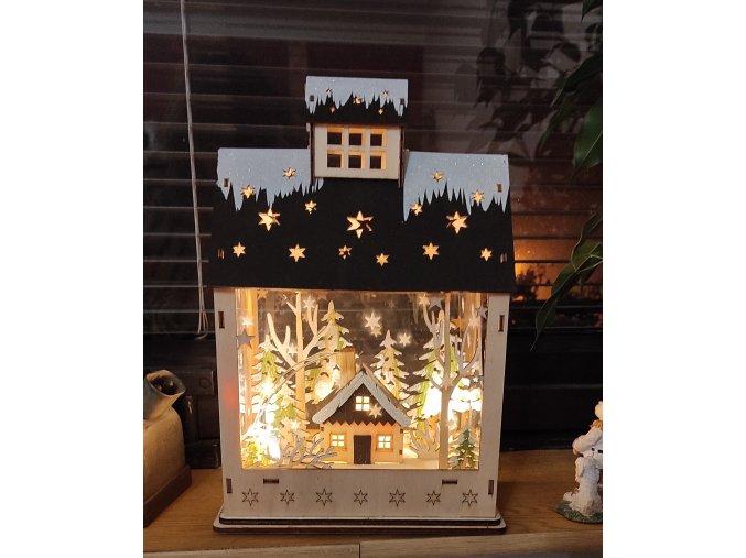 Vánoční domek LED
