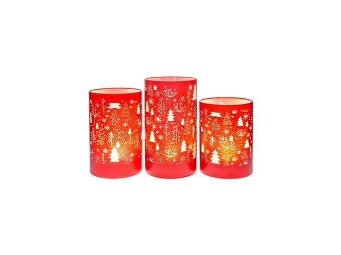 Svítící lampa LED červená - stromky 16cm