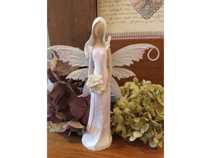 Víla s plechovými křídly 2 sv. fialová