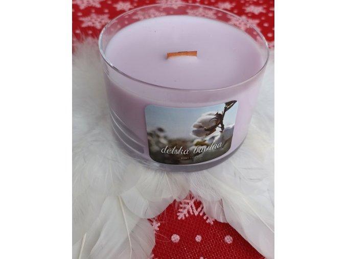 Svíčka ve skle Wood Wick Dětská bavlna