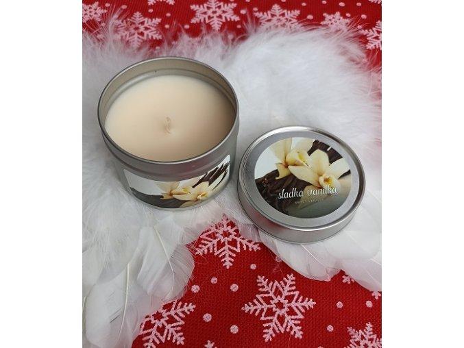 Svíčka v plechovce Sladká vanilka