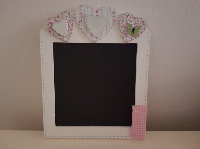 Dřevěná tabulka, růžová