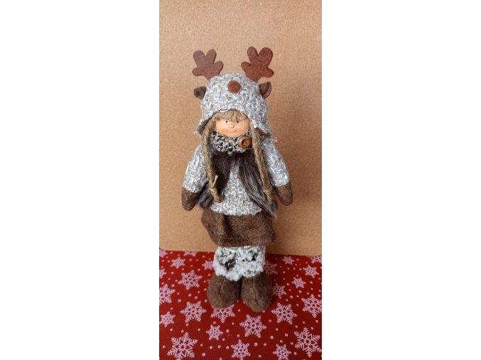 Vánoční stojící panenka v čepici