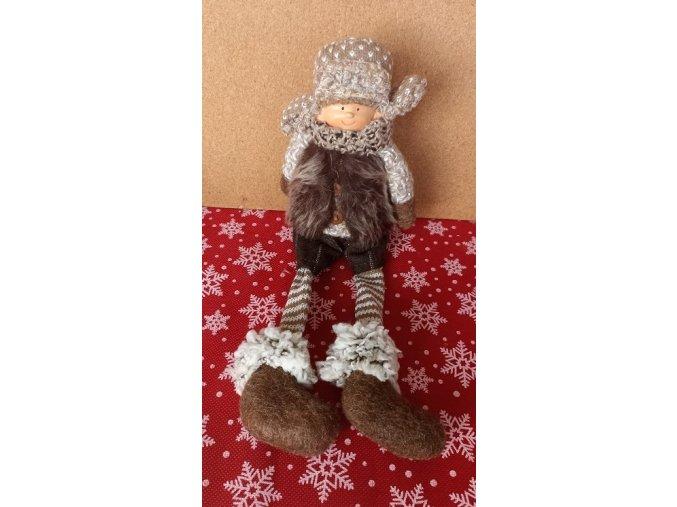 Vánoční sedící panenka v ušance