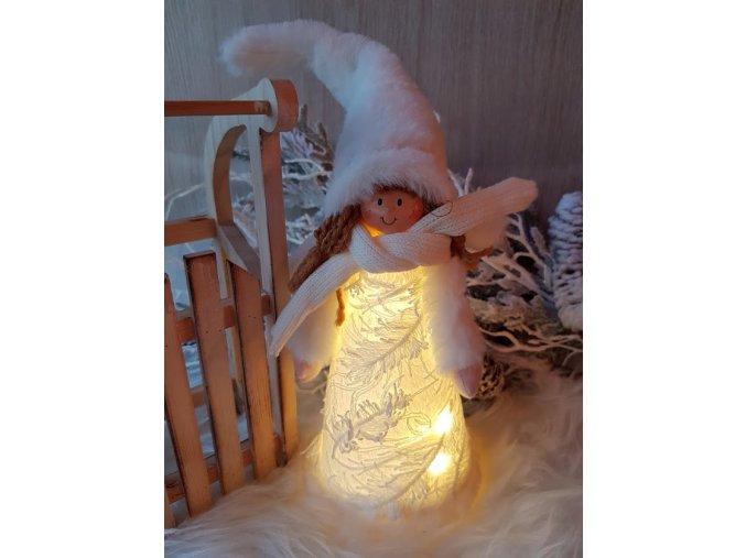 Svítící andílek LED, 35 cm