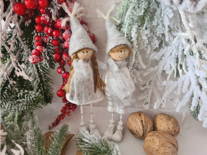 Vánoční holčička a chlapec