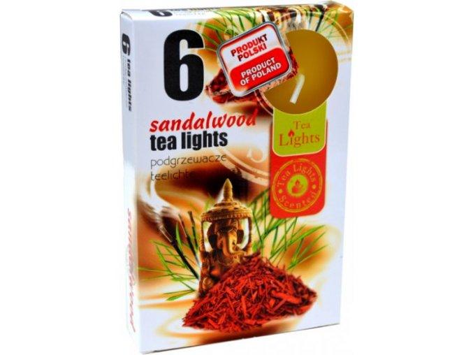 sandalove drevo cajova svicka 6ks 603 1