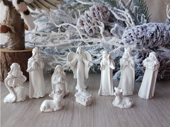 Betlém bílý, 10 figurek