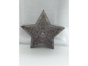 Hvězda LED  dřevo/PVC