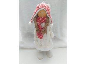 Vánoční panenka ve svetru 35cm