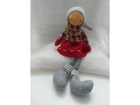 Vánoční figurka-nohatá holka 58cm