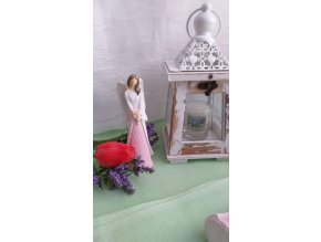Andělka bílo-růžová 1