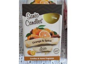 Čajová svíčka pomeranč a koření, 6ks