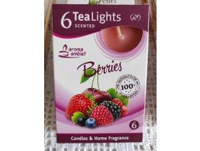 Čajová svíčka lesní ovoce, 6ks