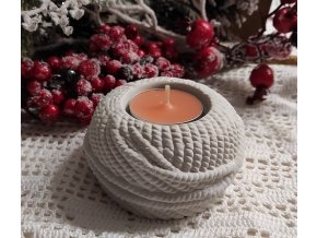Svícen na čajovou svíčku - sádra