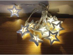 Vánoční girlanda - dřevěné hvězdy
