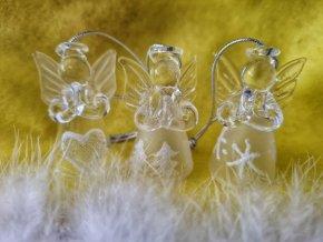 Anděl skleněný 3ks
