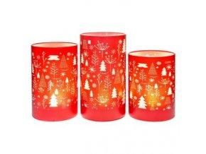 Svítící LED lampa červená - stromky 14cm