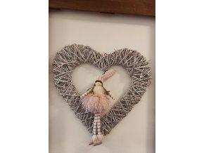 Proutěné srdce 50cm