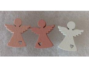Dřevěný andílek 1,8cm bílý