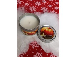 Svíčka v plechovce Jablko a Skořice