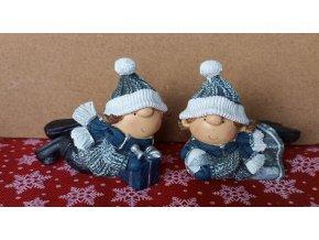Vánoční děti v mnodrém