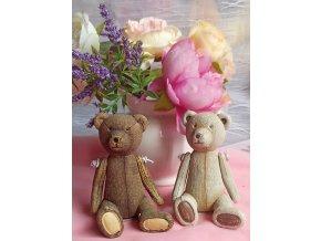 Medvěd retro bílý
