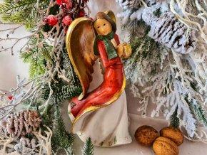 Andělka s dárkem, 23 cm