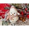 Sněhulák plyšový s čepicí