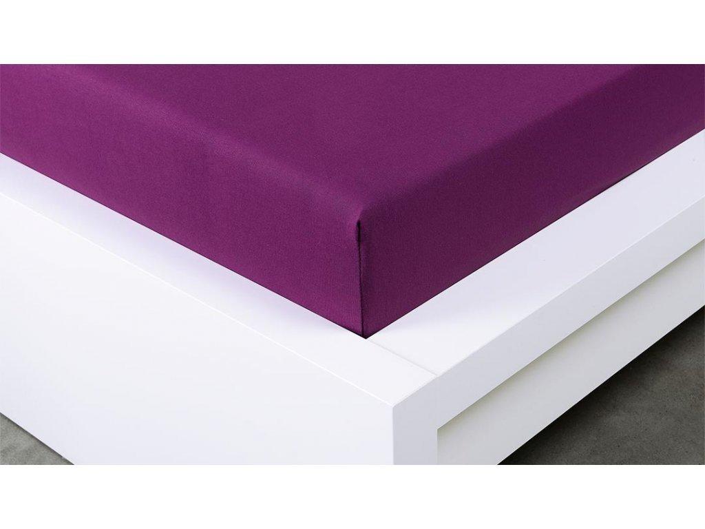 Jersey prostěradlo Exclusive dvoulůžko - švestková 180x200 cm