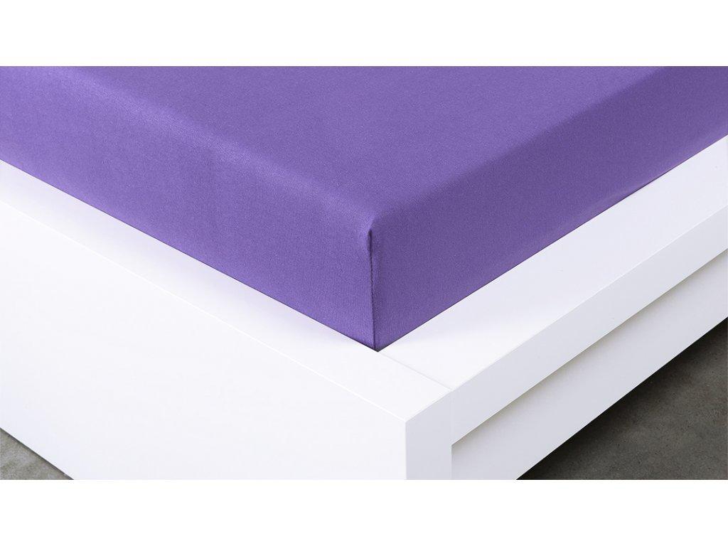 Jersey prostěradlo Exclusive dvoulůžko - fialová 200x220 cm