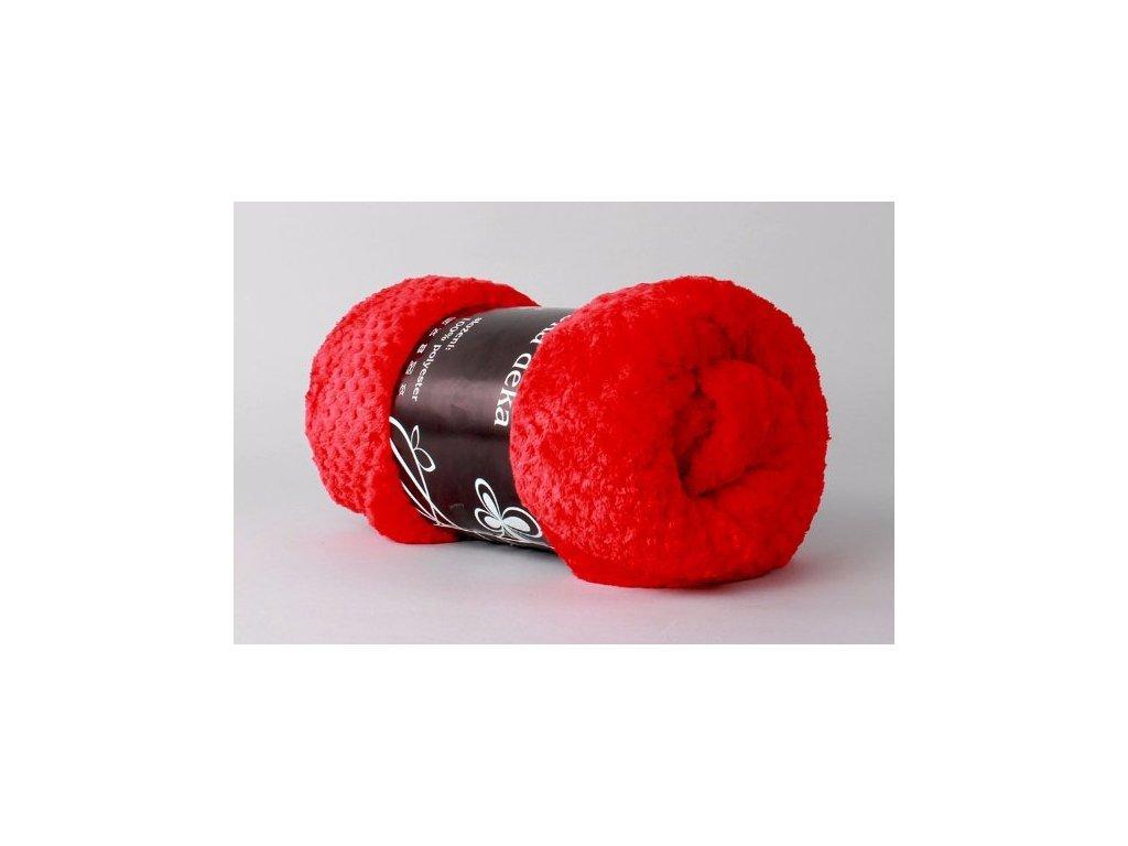 DEKA MIKROFLANEL červená 200x230