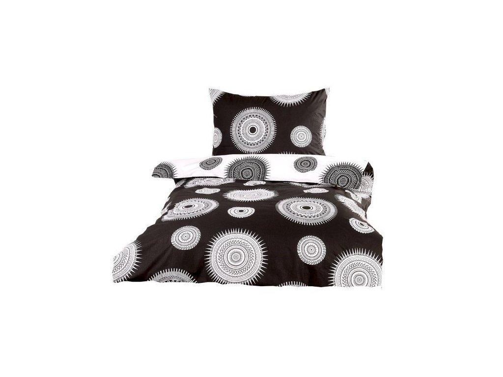 Xpose bavlna povlečení MARILYN DUO černo-bílá  140X200, 70X90