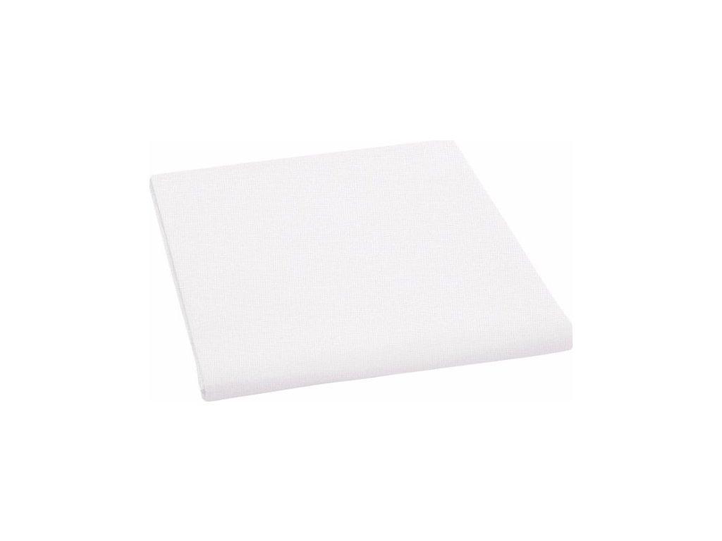 Prostěradlo  plátno bez gumy bílé  220x240