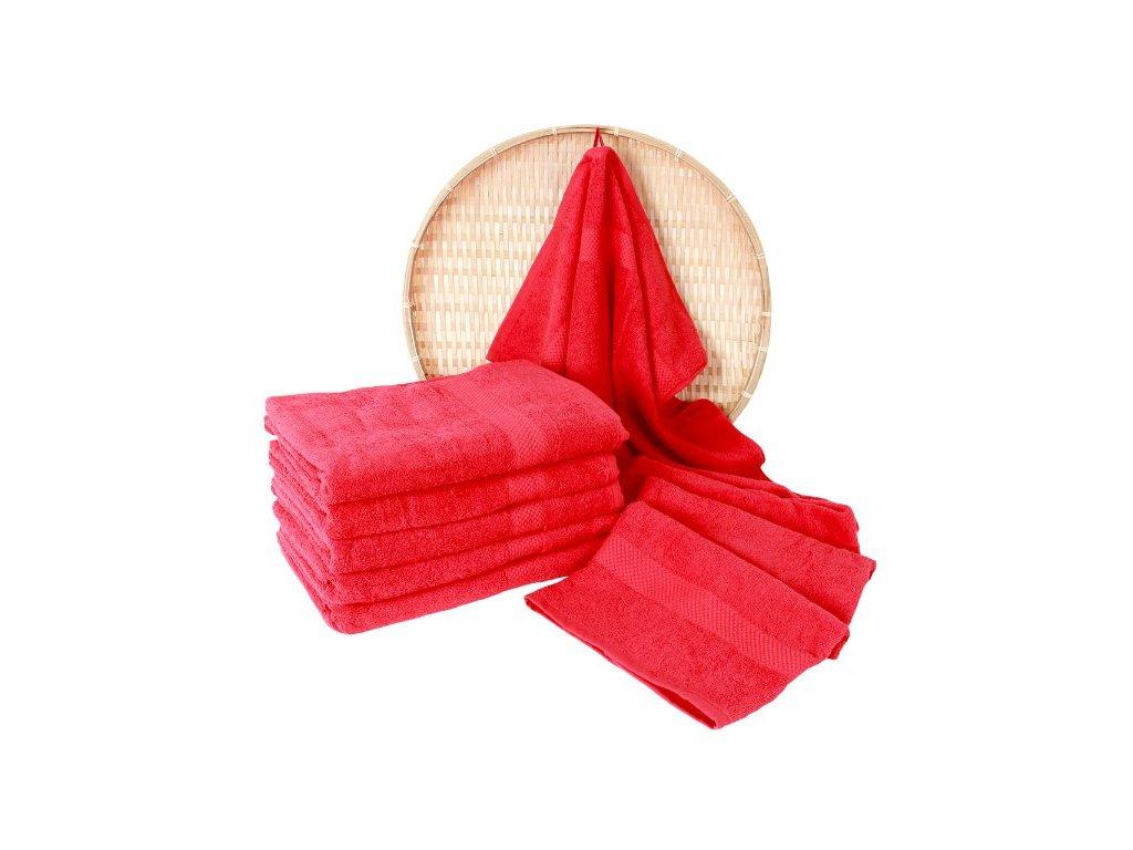 Darsi froté ručník červený 50x100