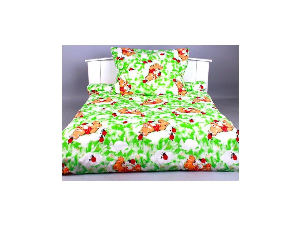 Písecké lůžkoviny bavlna povlečení  Beruška zelená   140x200,70x90